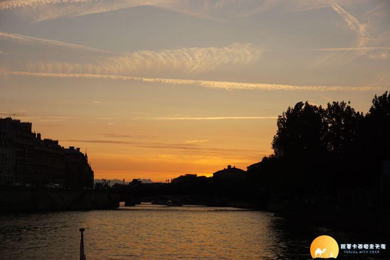 塞納河的日落