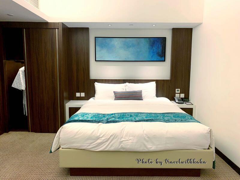 愉景灣酒店雙人床